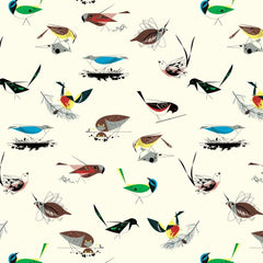 birch fabric charley harper western birds main 100% organic cotton