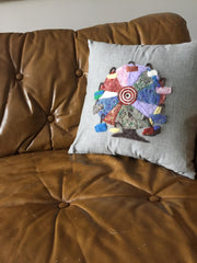 maker spotlight kelly crowley of bake simple needle felted pillow sew very modern an owl and drum blog