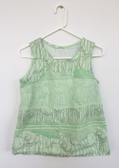 maker spotlight kelly crowley of bake simple willow tank in carolyn friedlander fabric sew very modern by owl and drum