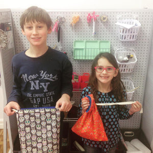 Spring Break Sewing - Drawstring Bags! Tuesday 3/20, 2-5pm - Owl & Drum