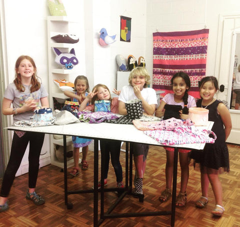 Kid's Beginning Sewing Camp!  Tues-Thu 7/10-7/12 10am-1pm