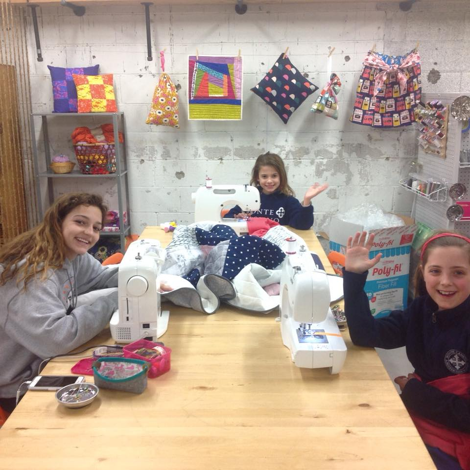 Kid's Holiday Sewing Workshop - - Owl & Drum