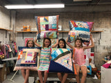 Improv Patchwork Floor Pillow Camp! June 27 & 28, 10am-3pm - Owl & Drum