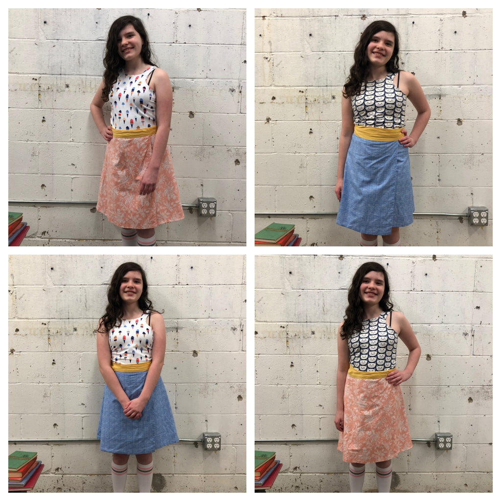 *NEW CAMP* Fashion Sewing Camp 3: Reversible Outfit! August 13, 14, 15, 10am-1pm - Owl & Drum