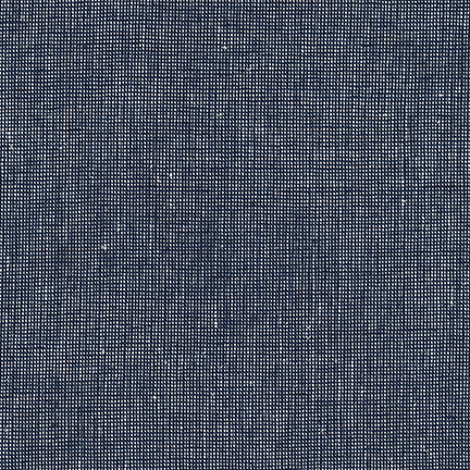 Robert Kaufman Navy Essex Yarn Dyed Homespun Linen - Owl & Drum