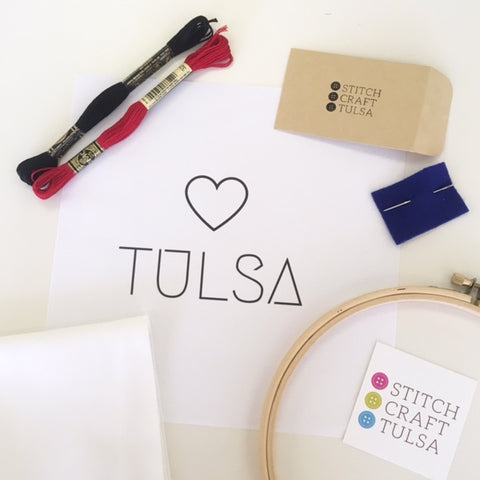 Stitch Craft Tulsa Embroidery Kit