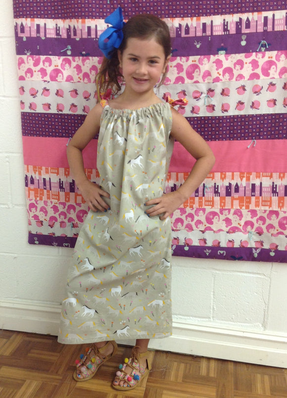 Dress Sewing Camp! Tues 7/31-Thurs 8/2, 2-5:00pm - Owl & Drum