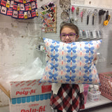 Kids' Summer Sewing: Bed Pillow Case! Zoom Class - Tuesday 7/28,  1:00-3:30pm - Owl & Drum