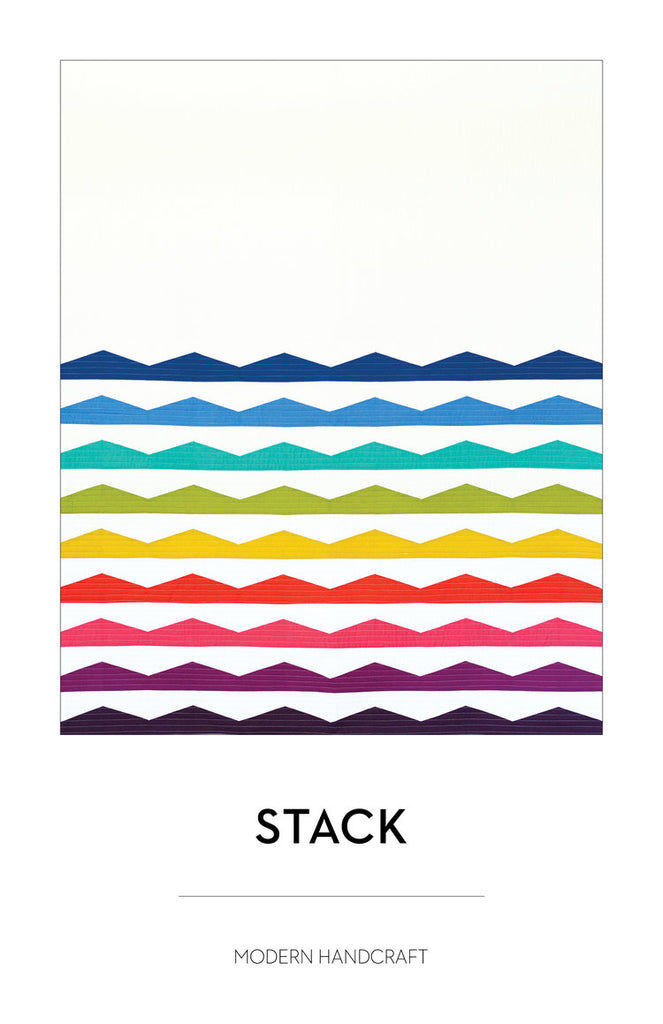The Stack Quilt Pattern by Modern Handcraft
