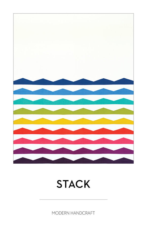 The Stack Quilt Pattern by Modern Handcraft - Owl & Drum