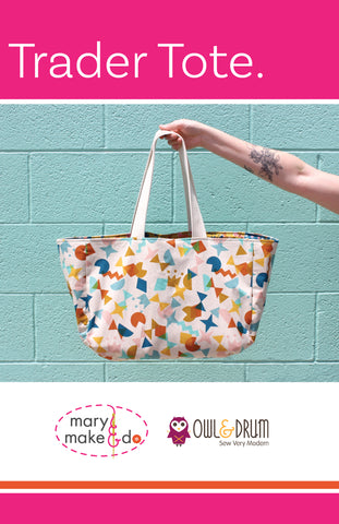 The Trader Tote by Mary Make & Do Printed Sewing Pattern
