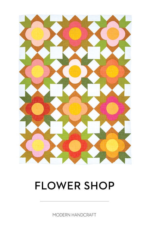 Flower Shop Quilt Pattern by Modern Handcraft - Owl & Drum