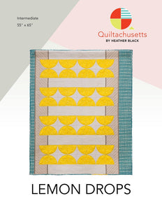 Quiltachusetts Lemon Drops Quilt Pattern - Owl & Drum