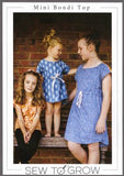 Mini Bondi Top and Dress - Girls Pattern by Sew to Grow - Owl & Drum