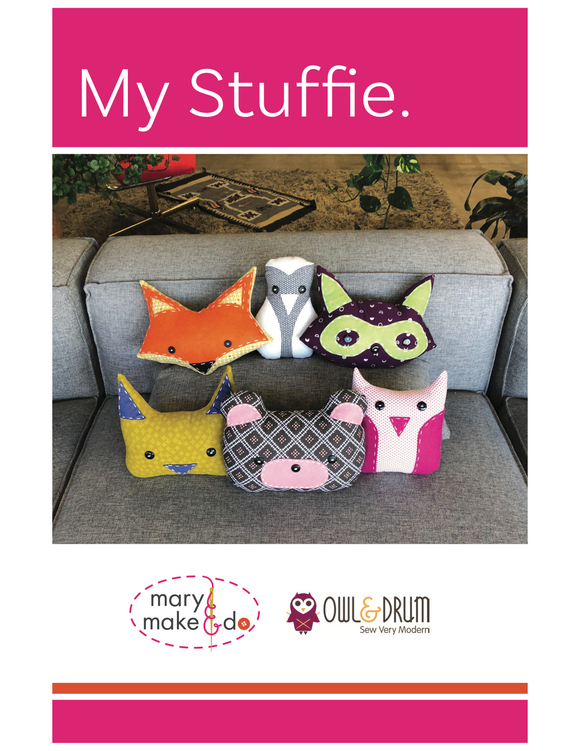 My Stuffies by Mary Make & Do PDF Sewing Pattern - Owl & Drum