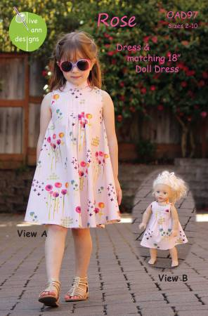 Rose Dress - Girls Pattern by Olive Ann Designs - Owl & Drum