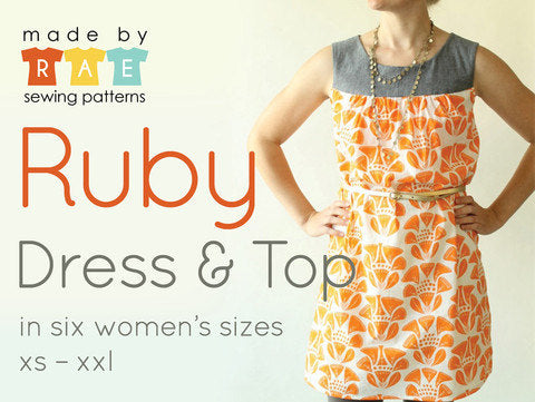 Made by Rae's Ruby Dress Sewing Pattern - Owl & Drum