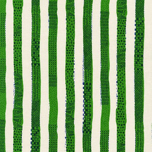 Simple Life Stripes in Green by Robert Kaufman