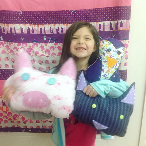 Stuffies Sewing Camp! Tues 6/27 through Fri 6/30, 2-4:30pm