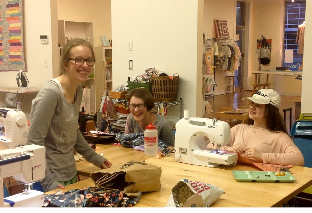 Teen Sewing Studio & Pizza Party! - Friday 5/26, 6-9pm - Owl & Drum
