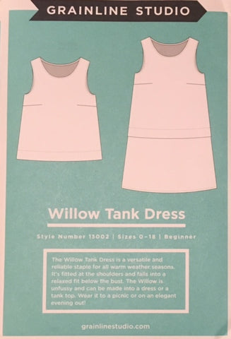 Grainline Studio Willow Tank Dress Sewing Pattern