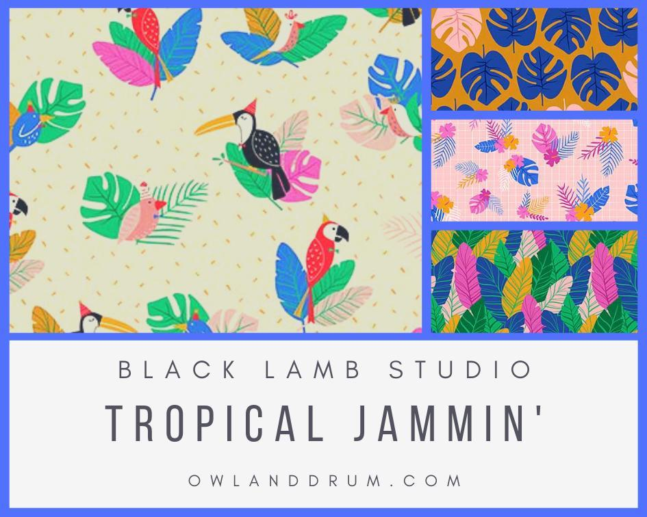 blcak lamp studio tropical jammin' old and drum best sewing blogger