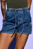 Drawstring 90s Deadstock Denim Shorts