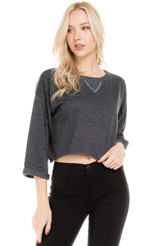 Flashdance Cropped Sweatshirt