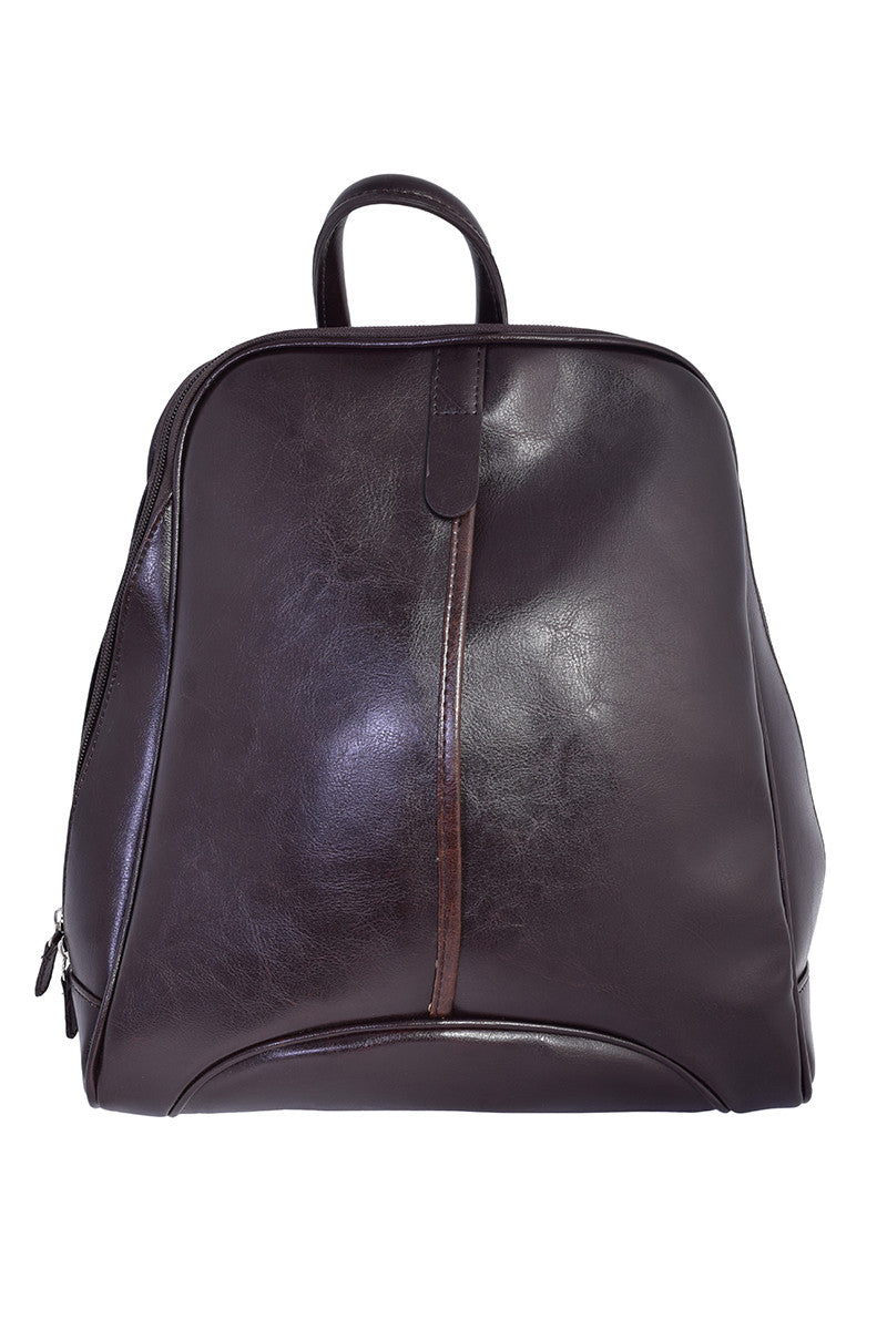 Vintage Inspired Mini Backpack - Dark Brown