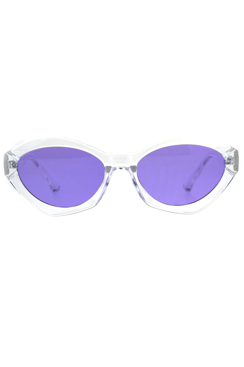 Clear Oval Sherbet Sunglasses