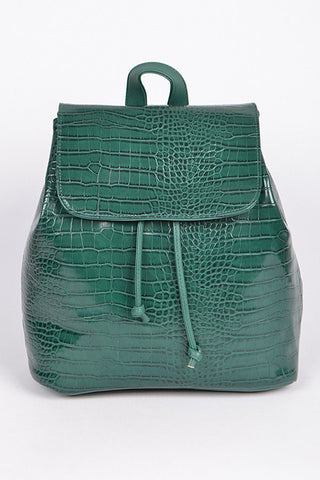 In A While Crocodile Backpack - Green