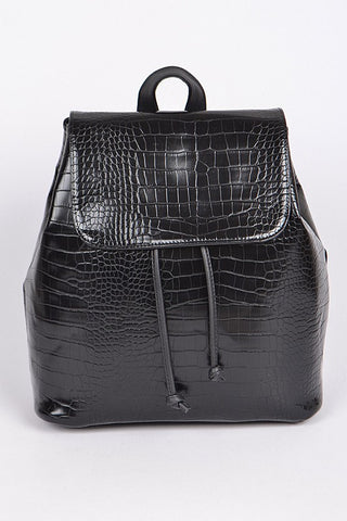 In A While Crocodile Backpack - Black