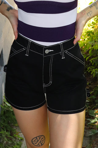 Black Carpenter Shorts by Dickies Girl