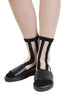 Stripe Mesh Socks - Black