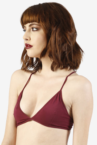 Perf Triangle Bra - Wine