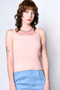 Brighton Eyelet Trim Knit Tank - Blush