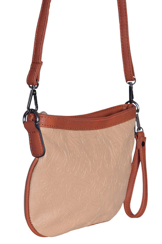 Vintage Embossed Bag - Taupe