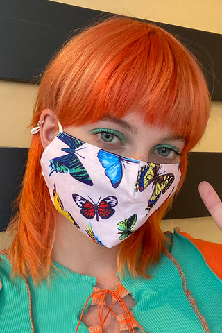Social Butterfly Reusable Face Mask