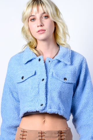 Alec Fuzzy Crop Jacket