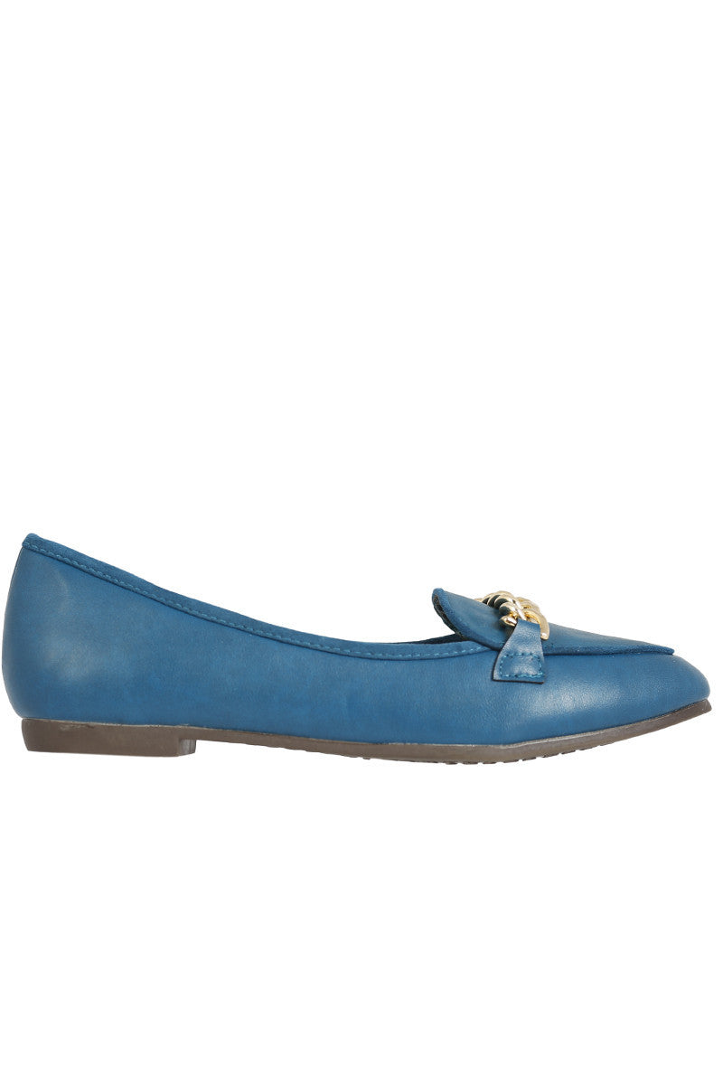 Womens Blue Hefner Chain Loafer at EchoClubHouse main image