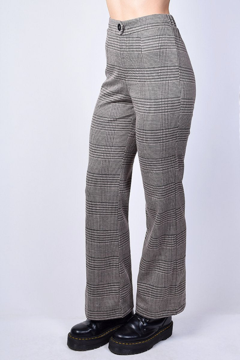 Cheryl Plaid Flare Trouser
