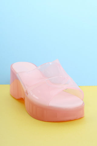 All of The Love Jelly Sandals - Pink Lemonade