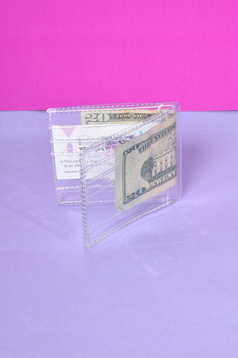 Crystal Clear Plastic Wallet