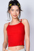 Cleo Ribbed Tank - Red