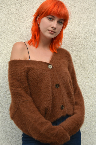 Come As You Are Fuzzy Cardigan