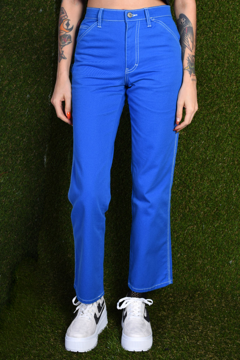 Blue Relaxed Carpenter Pants by Dickies Girl
