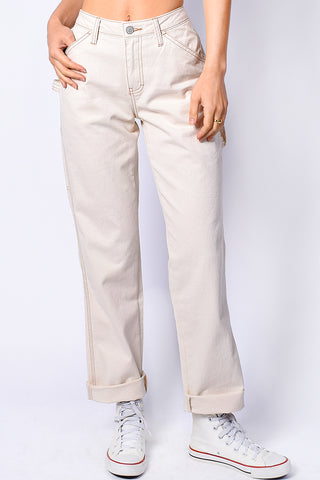 Natural Relaxed Carpenter Pants by Dickies Girl
