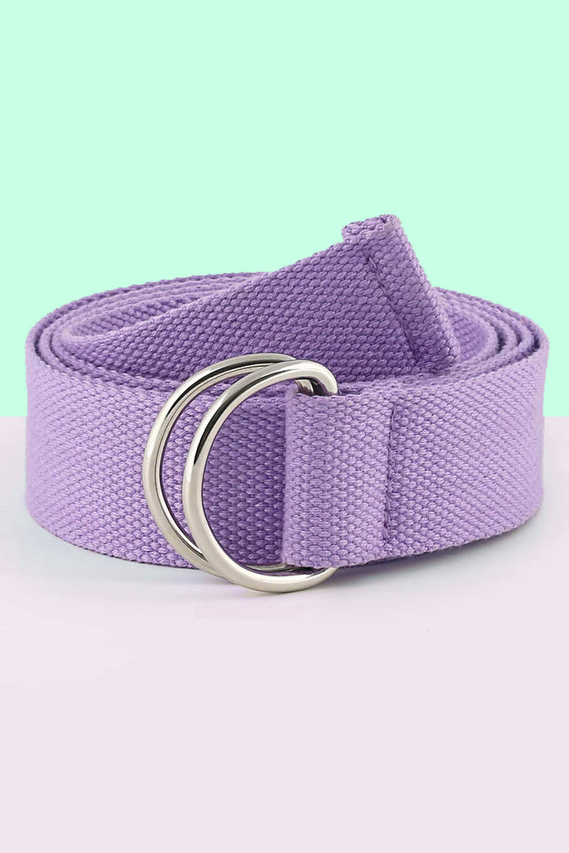 Lavender Extra Long Canvas Belt