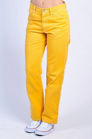 Gold Relaxed Carpenter Pants by Dickies Girl