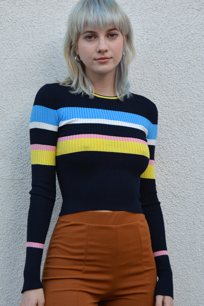 Longview Bold Striped Fitted Sweater